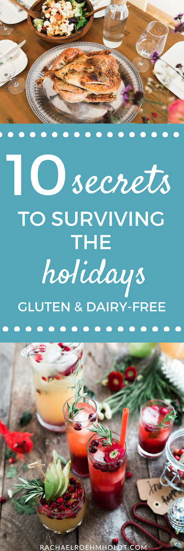 """Are you gluten-free and dairy-free and worried about how you'll stick with your diet through the holiday season? Check out my brand new class """"10 Secrets to Surviving the Holidays Gluten and Dairy-free!"""""""