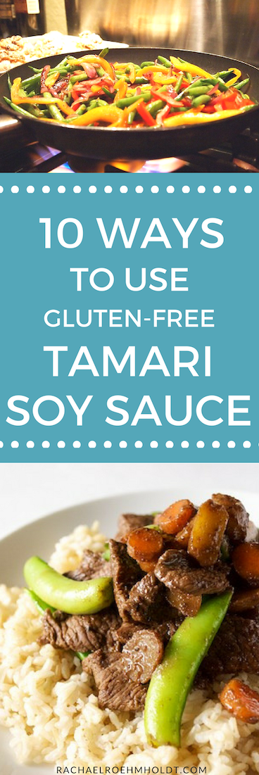 If you're new to being gluten-free, one ingredient that might be new to you is gluten-free tamari soy sauce. But if you aren't sure how to use it, check out these 10 simple ways to incorporate this ingredient into your meals. Click through for the whole post.
