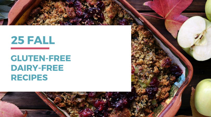 Looking for some fall recipes for your gluten-free dairy-free diet? Check out these 25 awesome recipes by clicking through to read the full post.