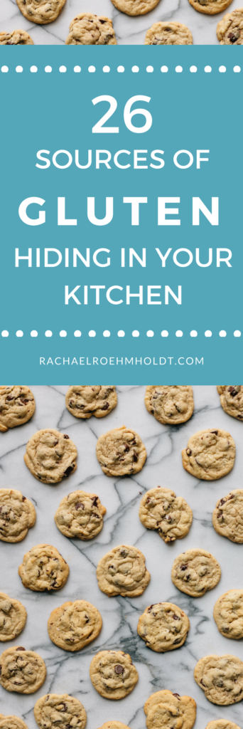 Are you just getting started with a gluten-free diet? If so, you won't want to miss these 26 hidden sources of gluten in your kitchen! Click through to read the entire post.