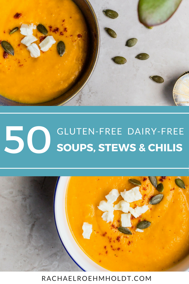 Looking for some hearty and delicious gluten-free dairy-free soup, stew and chili recipes? Look no further with these 50 chicken soup, beef soup, ham soup, vegetable soup, and 20-minute soup recipes that are all gluten-free dairy-free friendly!