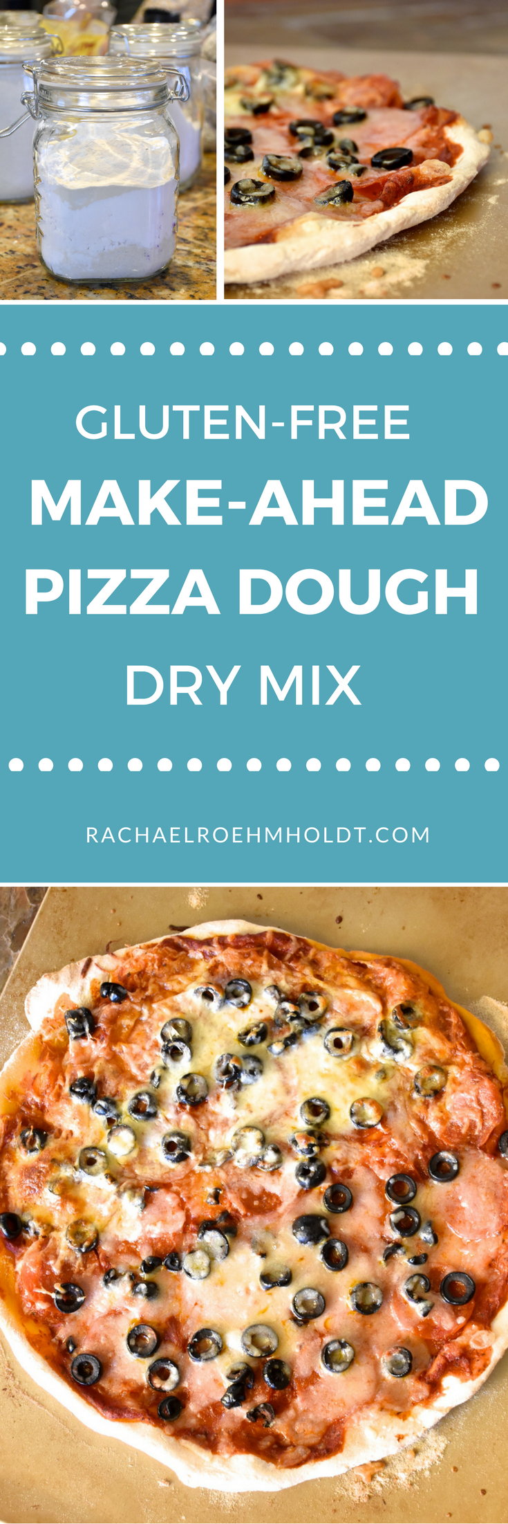 Learn how to create gluten-free make-ahead pizza dough dry mixes for an easy dinner that you can feel good about. Click through to read the full post.