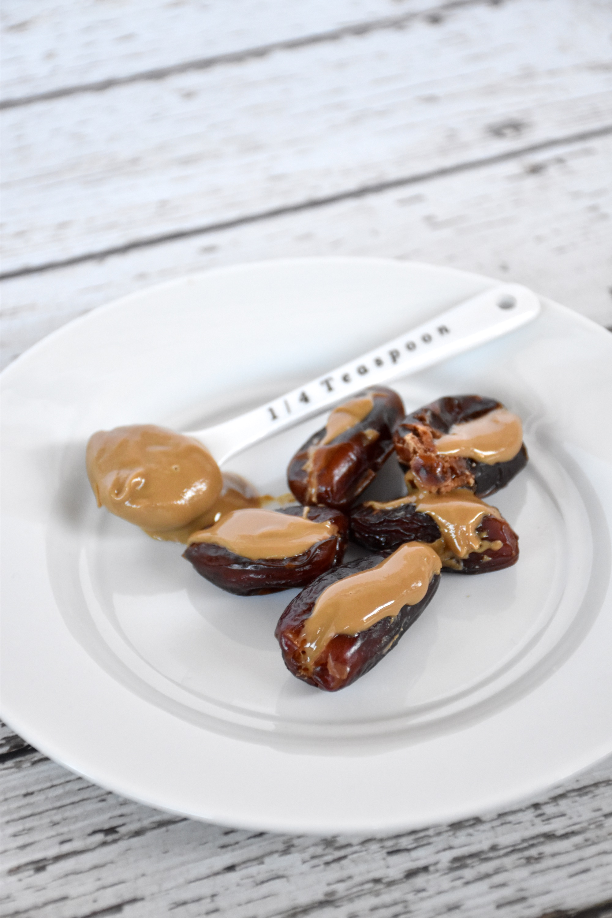 Nut butter stuffed dates, an excellent gluten-free dairy-free snack