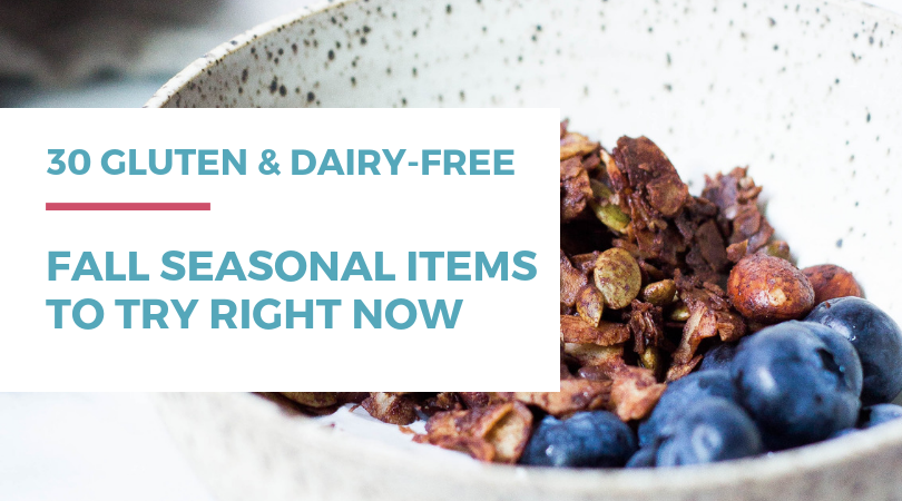 Do you love eating seasonally but with a gluten and dairy-free diet wonder what you can indulge in and still feel your best? Try these 30 gluten-free dairy-free fall seasonal items to make the most of pumpkin-everything season! Included are coffee creamers, donuts, bread and muffin mixes, snacks, prepared soups and chilis, and nut butters and spreads!