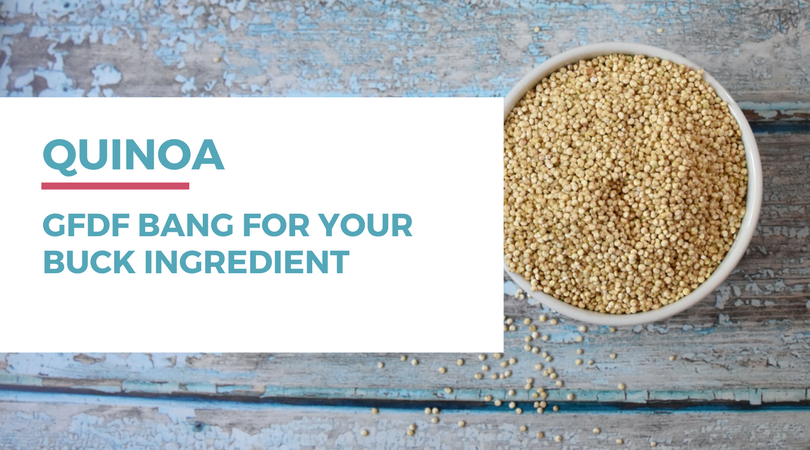 "Check out this ""bang for your buck"" gluten-free dairy-free ingredient: quinoa. Click through to read the full post at RachaelRoehmholdt.com"