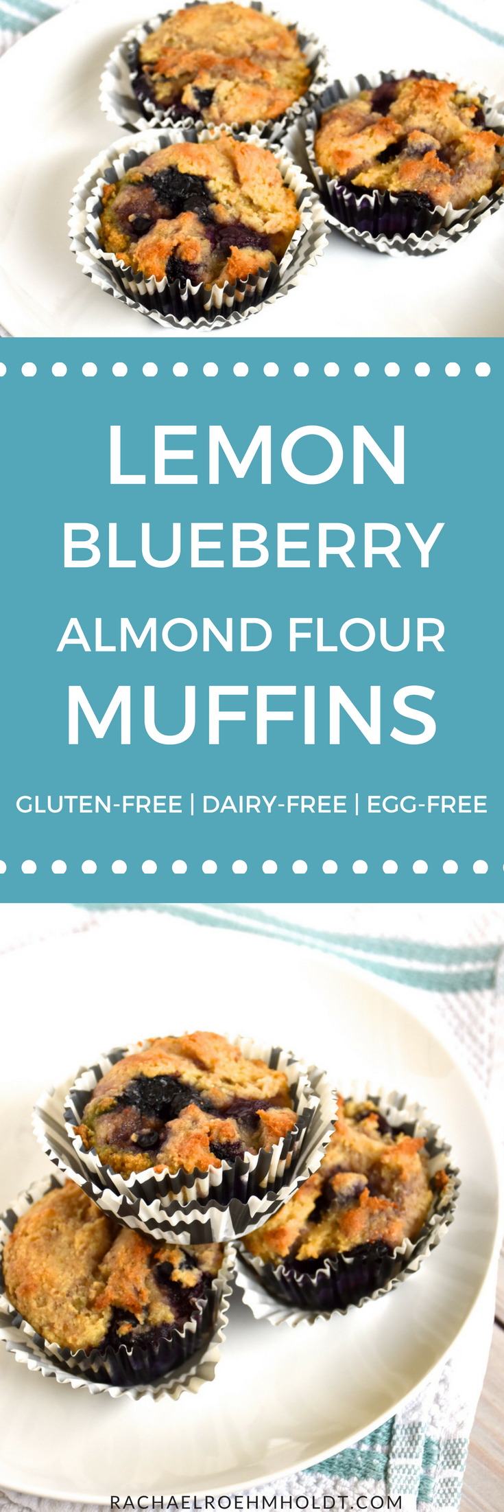 Looking for a delicious gluten-free dairy-free egg-free muffin recipe? Look no further! Try this lemon blueberry muffin recipe that is easy to put together, kid-tested, husband approved, super healthy AND delicious! Click through for the full recipe.
