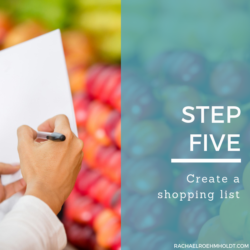Step 5. Create a shopping list