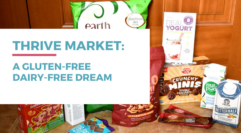 Thrive Market has a variety of gluten-free dairy-free foods and health items. Click through for more details.