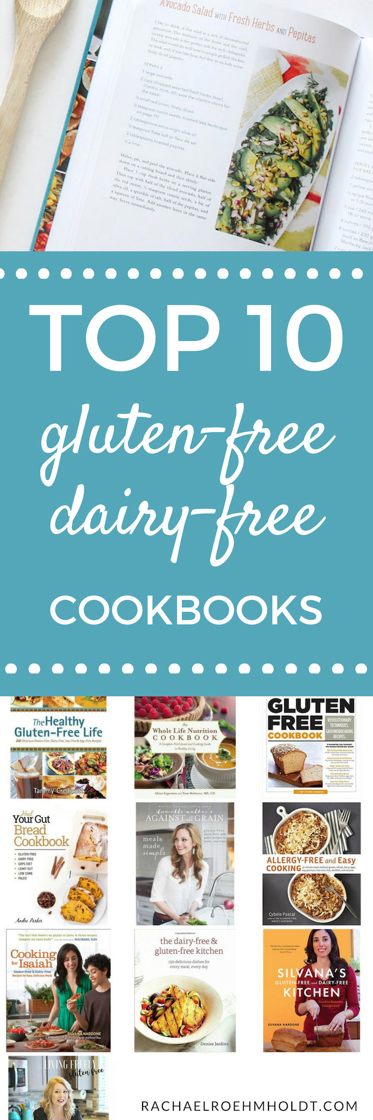 If you eat a gluten-free dairy-free diet, you're going to love these 10 cookbooks. With so many options, you're bound to find some amazing recipe inspiration to help you stick with this diet for the short and long-term.