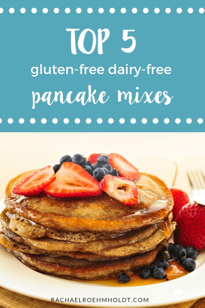 Top 5 Gluten-free Dairy-free pancake mixes. Try one of these tried and true options so you never have to go without pancakes on a gluten-free dairy-free diet again!
