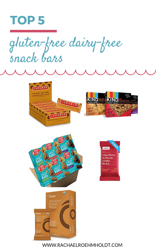 Looking for a gluten-free dairy-free snack or protein bar? Check out these 5 delicious and healthy snack bars you can get at the store that are made from minimal ingredients and will help get you through until your next meal time.